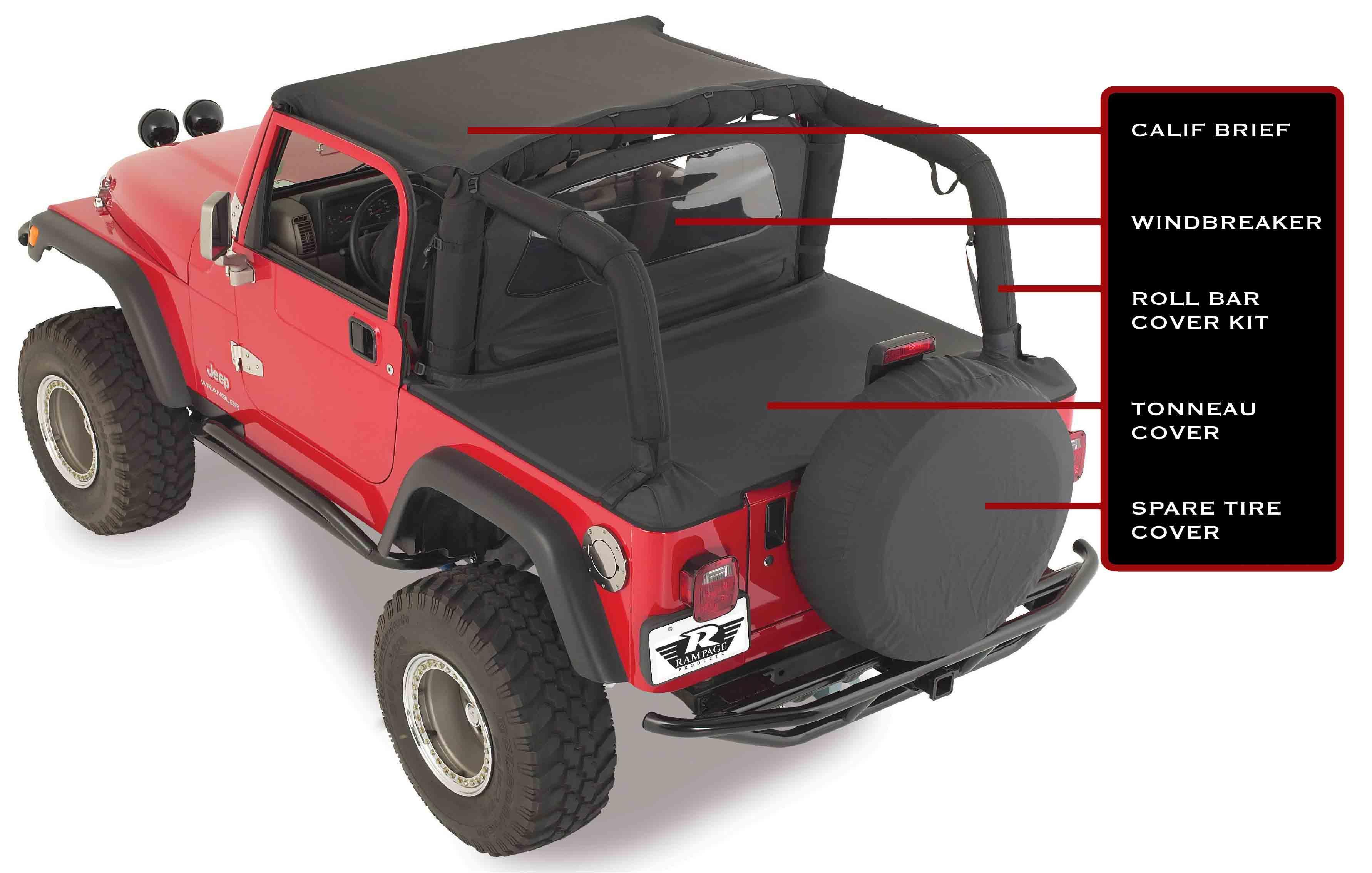 Jeep Jk Header Bikini Top Safari
